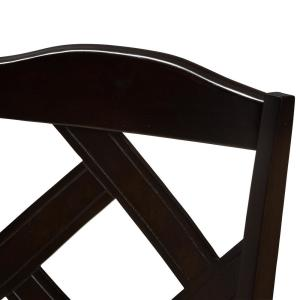 Surprising Baxton Studio Ruth Beige And Dark Brown Fabric Dining Chair Bralicious Painted Fabric Chair Ideas Braliciousco