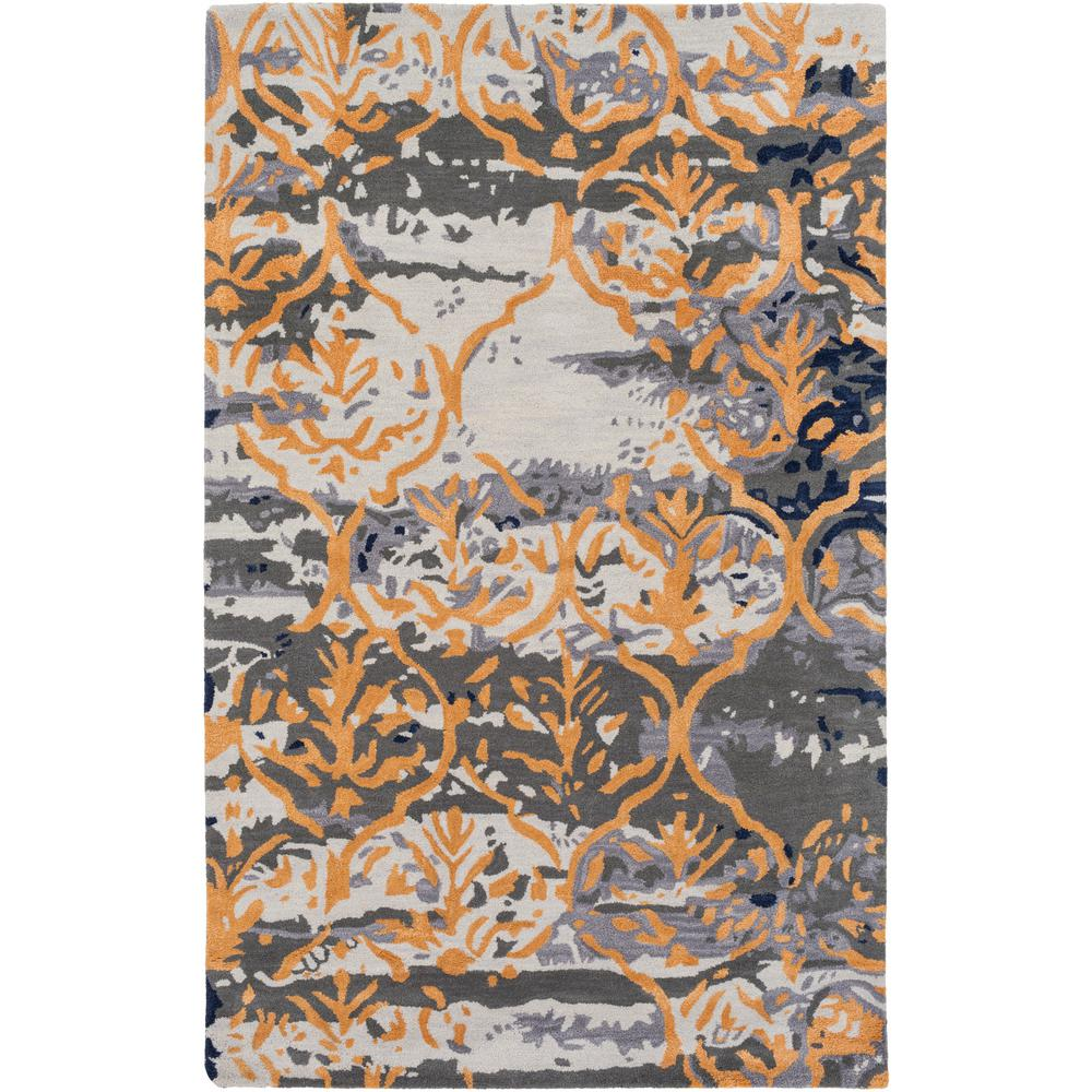 Pacific Holly Gray 9 ft. x 13 ft. Indoor Area Rug