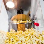 Funtime 4 oz. Black and Silver Hot Oil Popcorn Machine with Cart