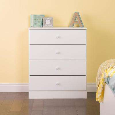 Astrid 4-Drawer White Chest