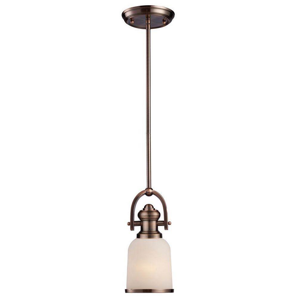 Titan Lighting Tiffany Buckingham 4 Light Ceiling Mount: Titan Lighting Chadwick 1-Light Antique Copper Ceiling