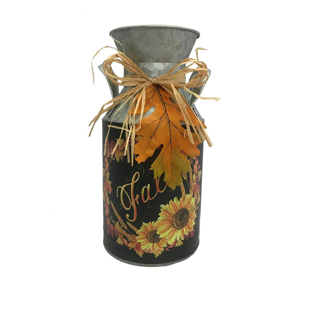 Home Accents Holiday 12 in. Galvanized Milk Jug