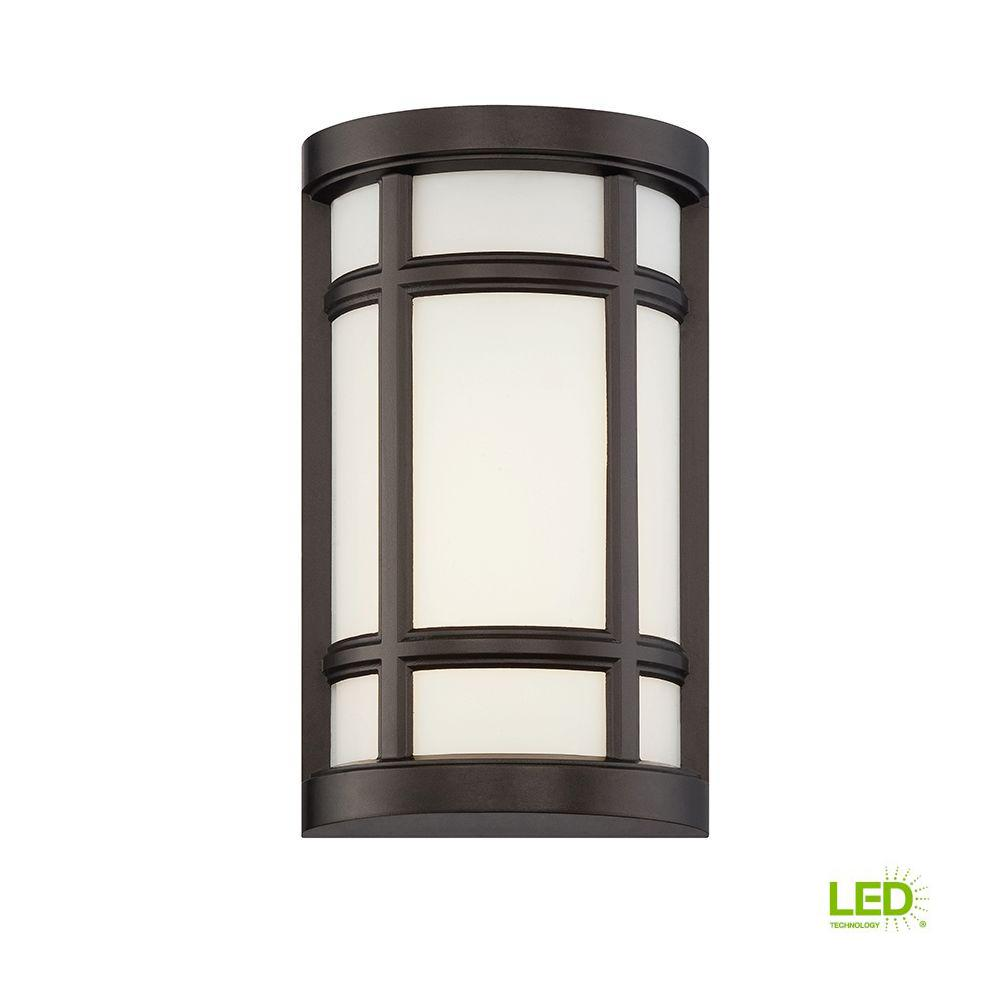 Logan Square Burnished Bronze Interior Outdoor Led Wall Sconce