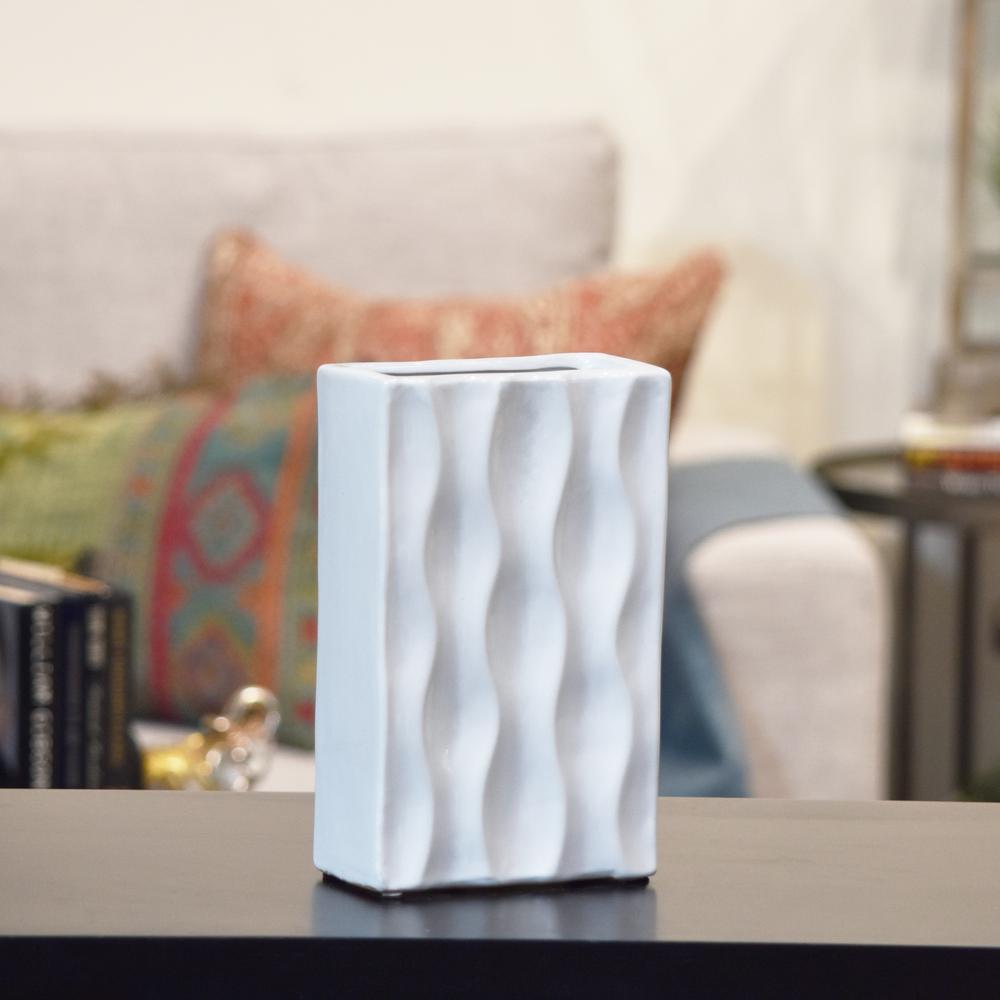 White Gloss Ceramic Decorative Vase