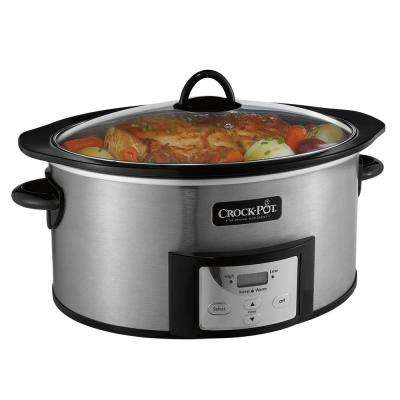 6 Qt. Slow Cooker with Stovetop Safe Cooking Pot