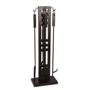 Layton 5-Piece Fireplace Tool Set in Black by