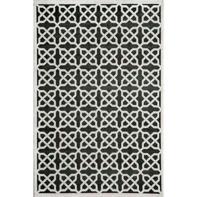 Platinum Black 3 ft. 3 in. x 5 ft. 3 in. Indoor Area Rug