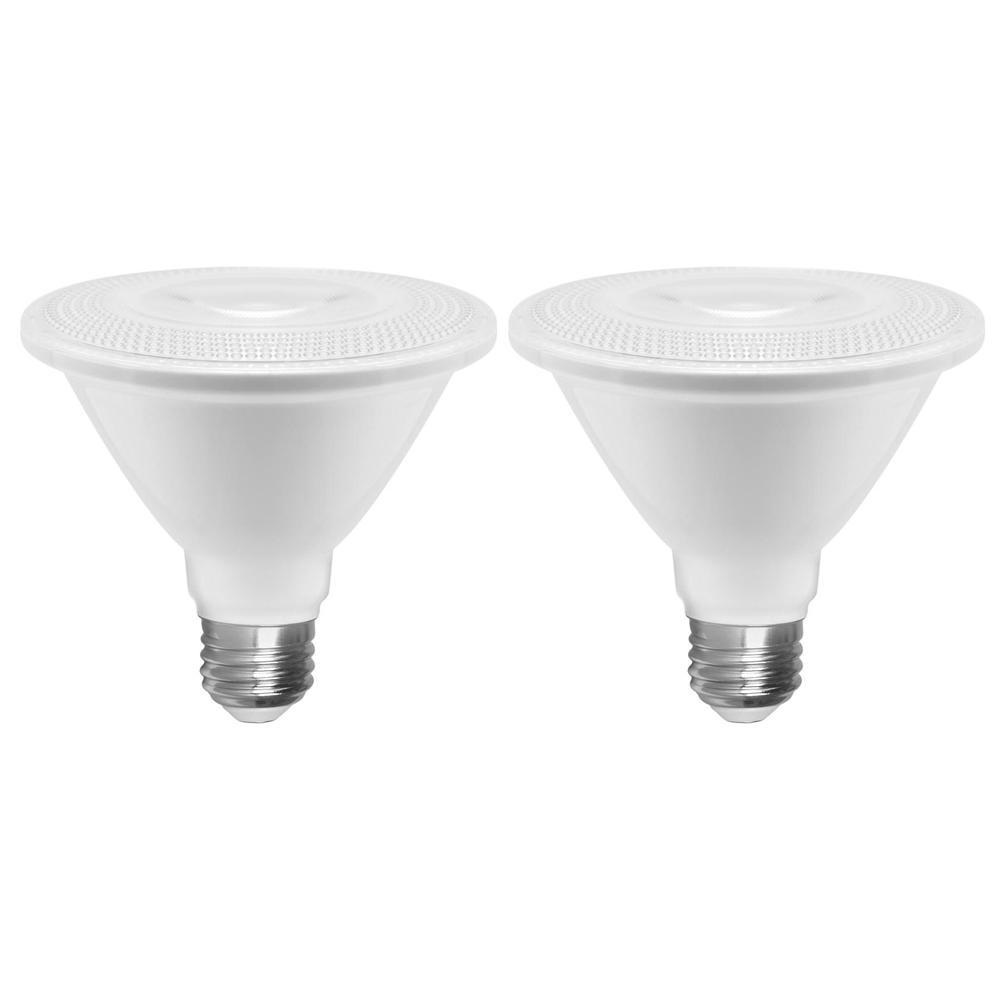 Euri Lighting 75-Watt Equivalent PAR30 Dimmable Short Neck LED Light Bulb (2-Pack)
