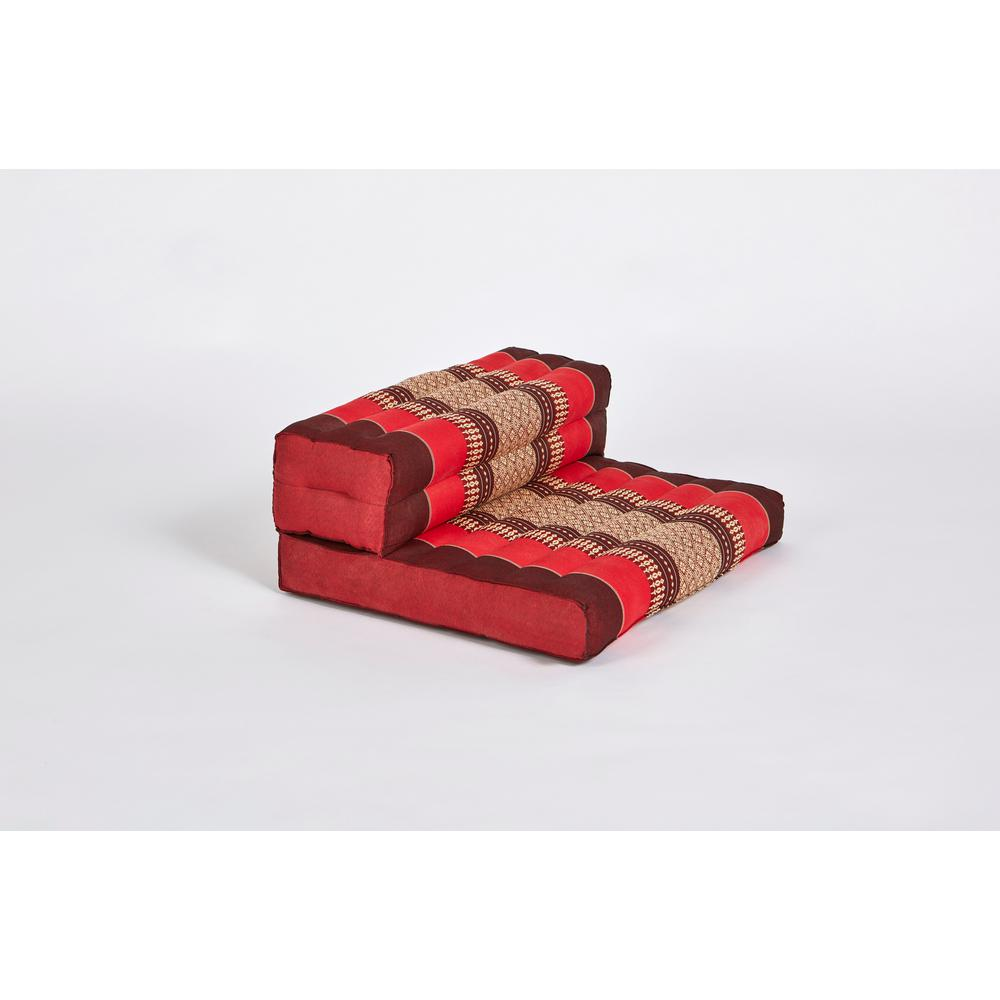 My Zen Home Red and Burgundy Dhyana Floor Living and Meditation Cushion