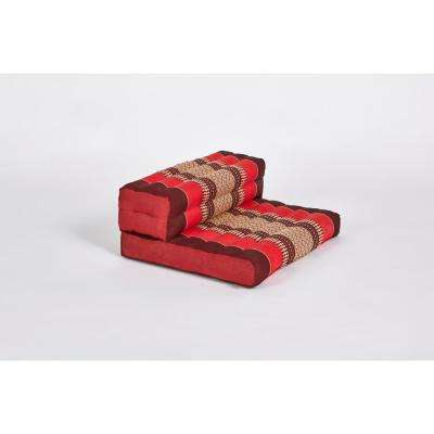 Red and Burgundy Dhyana Floor Living and Meditation Cushion