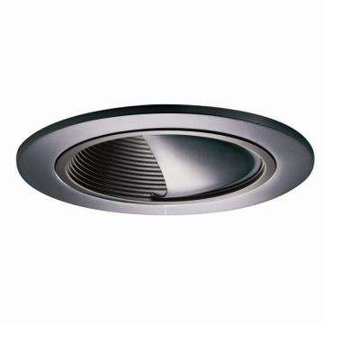 992 Series 4 in. Tuscan Bronze Recessed Ceiling Light Wall Wash Trim with Baffle