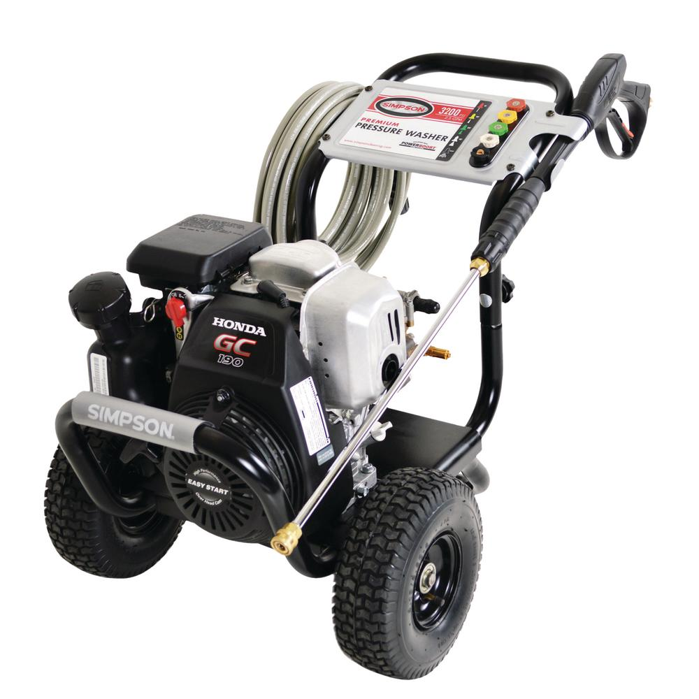 simpson megashot 3 200 psi 2 5 gpm gas pressure washer powered by
