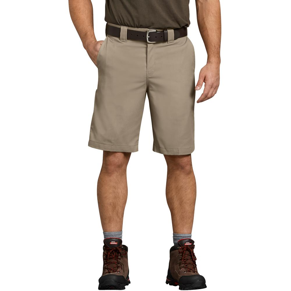Dickies Men's Desert Sand Flex 11 in. Relaxed Fit Work Short