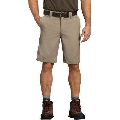 Men's Desert Sand Flex 11 in. Relaxed Fit Work Short