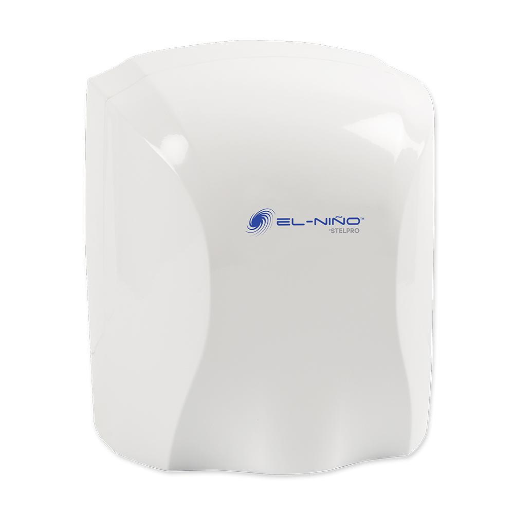 El Nino 1450-Watt 120-Volt White Auto-Start Electric Hand Dryer