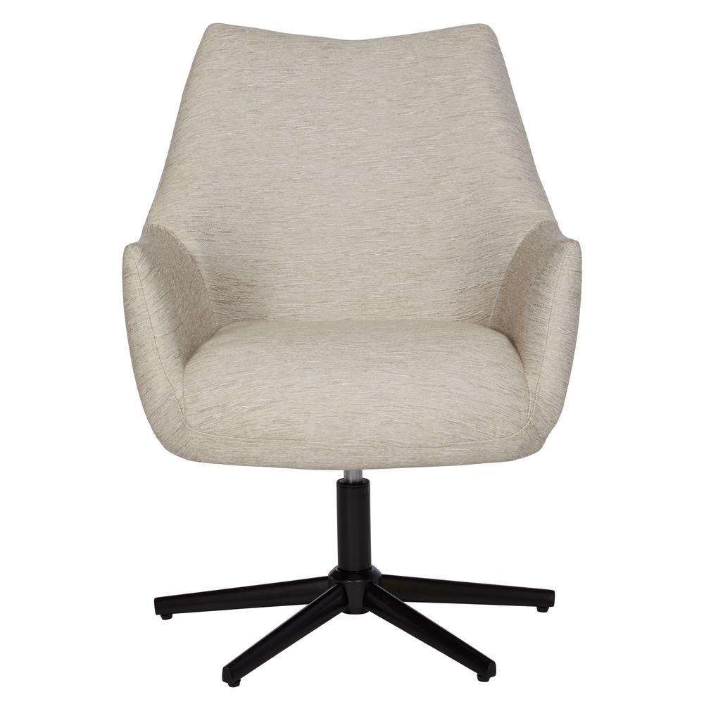 Gunnison Swivel Arm Chair in Oatmeal Tan Textured Strie