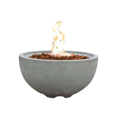 Nantucket 26.6 in. Round Concrete Propane Fire Bowl in Propane in Athens Gray