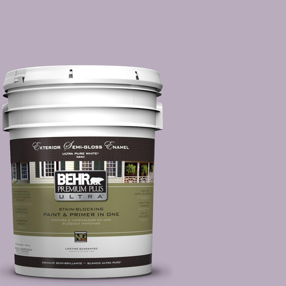 5-gal. #HDC-SP14-12 Exclusive Violet Semi-Gloss Enamel Exterior Paint