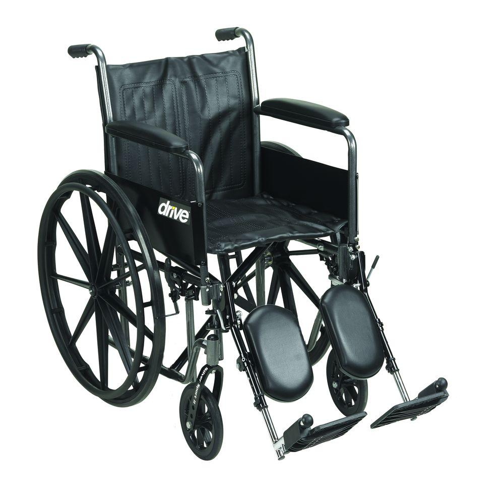 Silver Sport 2 Wheelchair, Detachable Full Arms, Elevating Leg Rests and