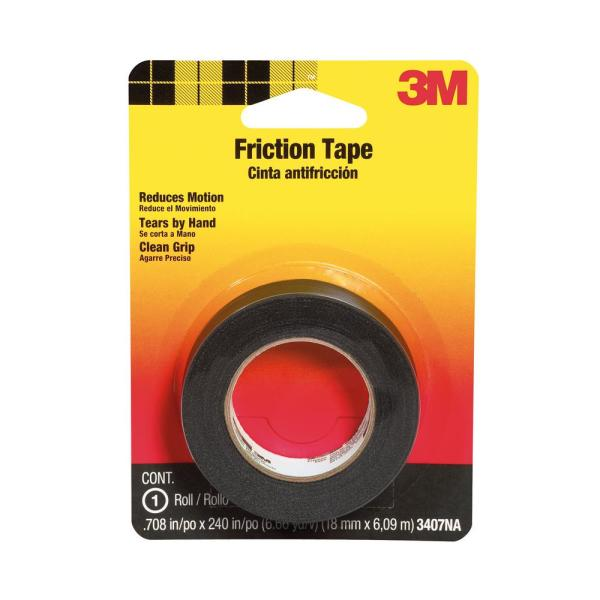 3/4 in. x 20 ft. Friction Tape - Black (Case of 6)