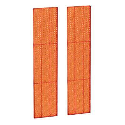 60 in. H x 13.5 in. W OrangeStyrene Pegboard with One Sided Panel (2-Pieces per Box)