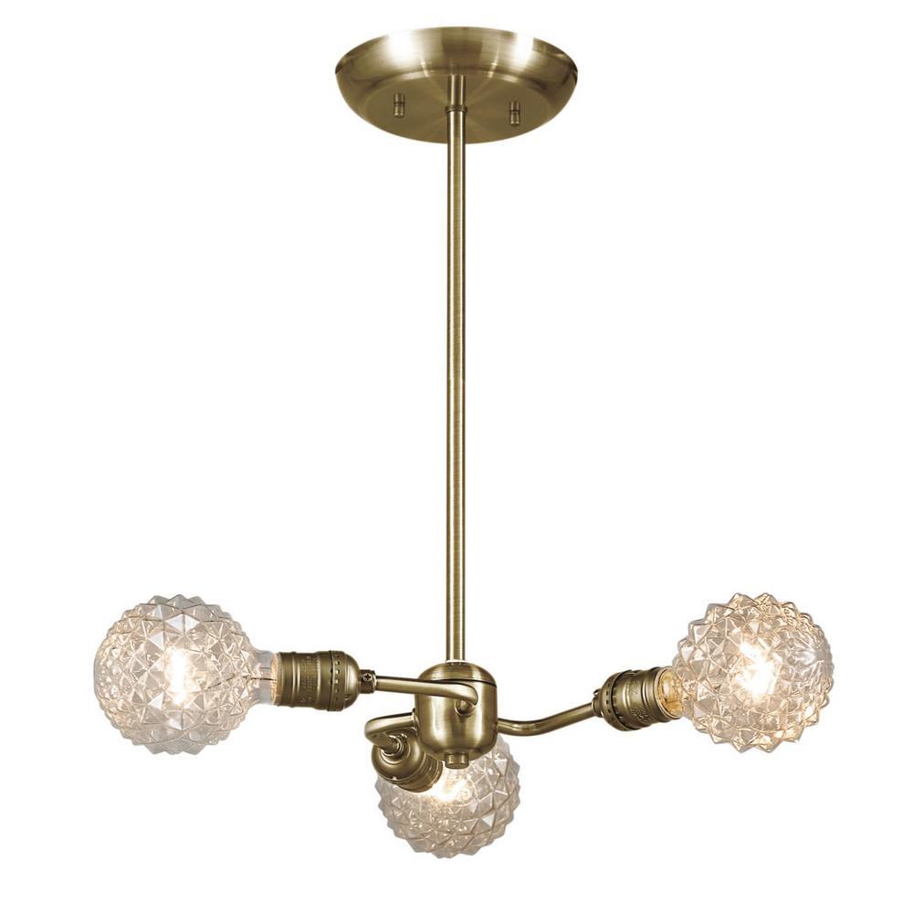 Globe electric varys 3 light antique brass pendant 65248 the home globe electric varys 3 light antique brass pendant aloadofball Gallery