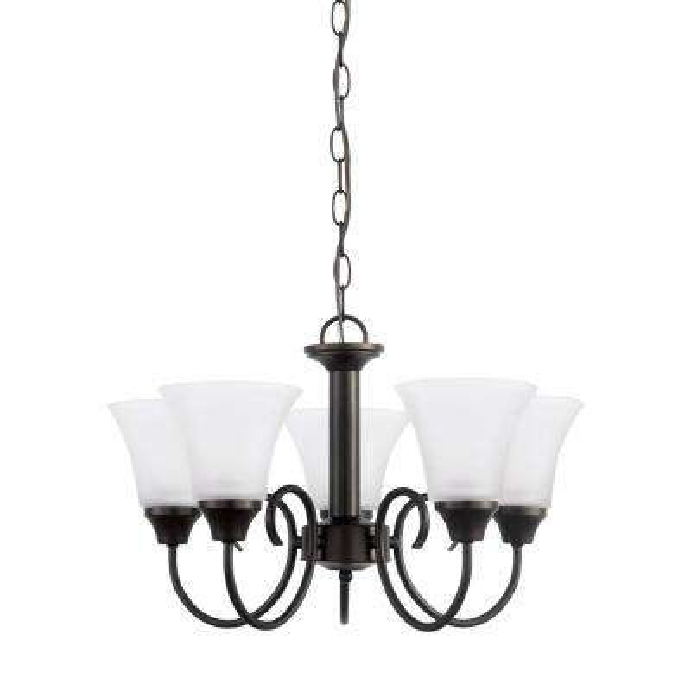 Holman 5-Light Heirloom Bronze Chandelier with LED Bulbs