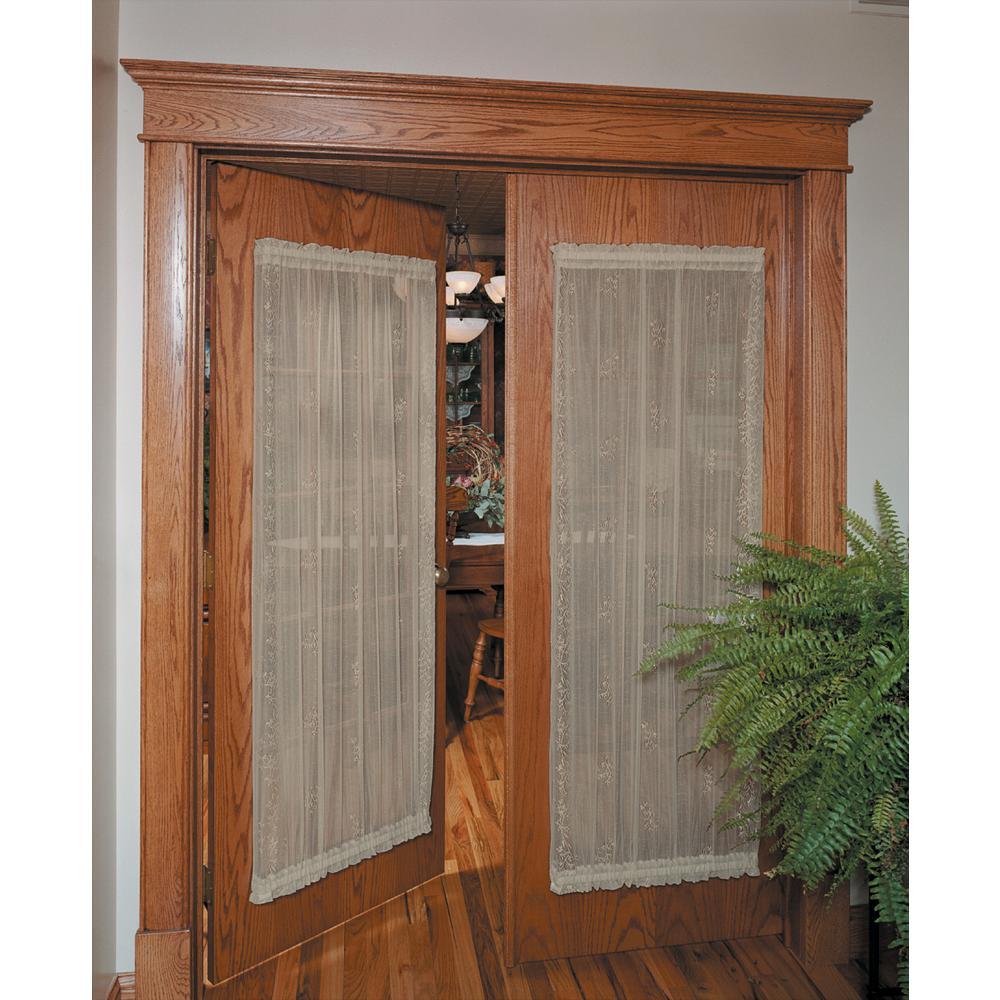Sheer Divine Flax Lace Door Panel