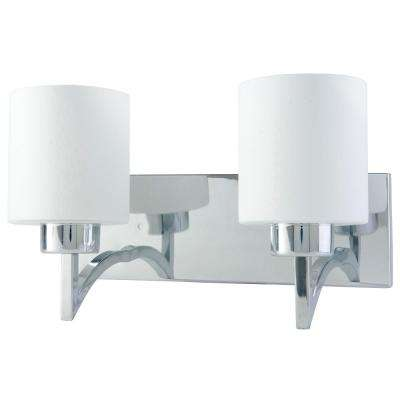 Markam Indoor Collection 2-Lights Chrome Wall Mount Sconce Light