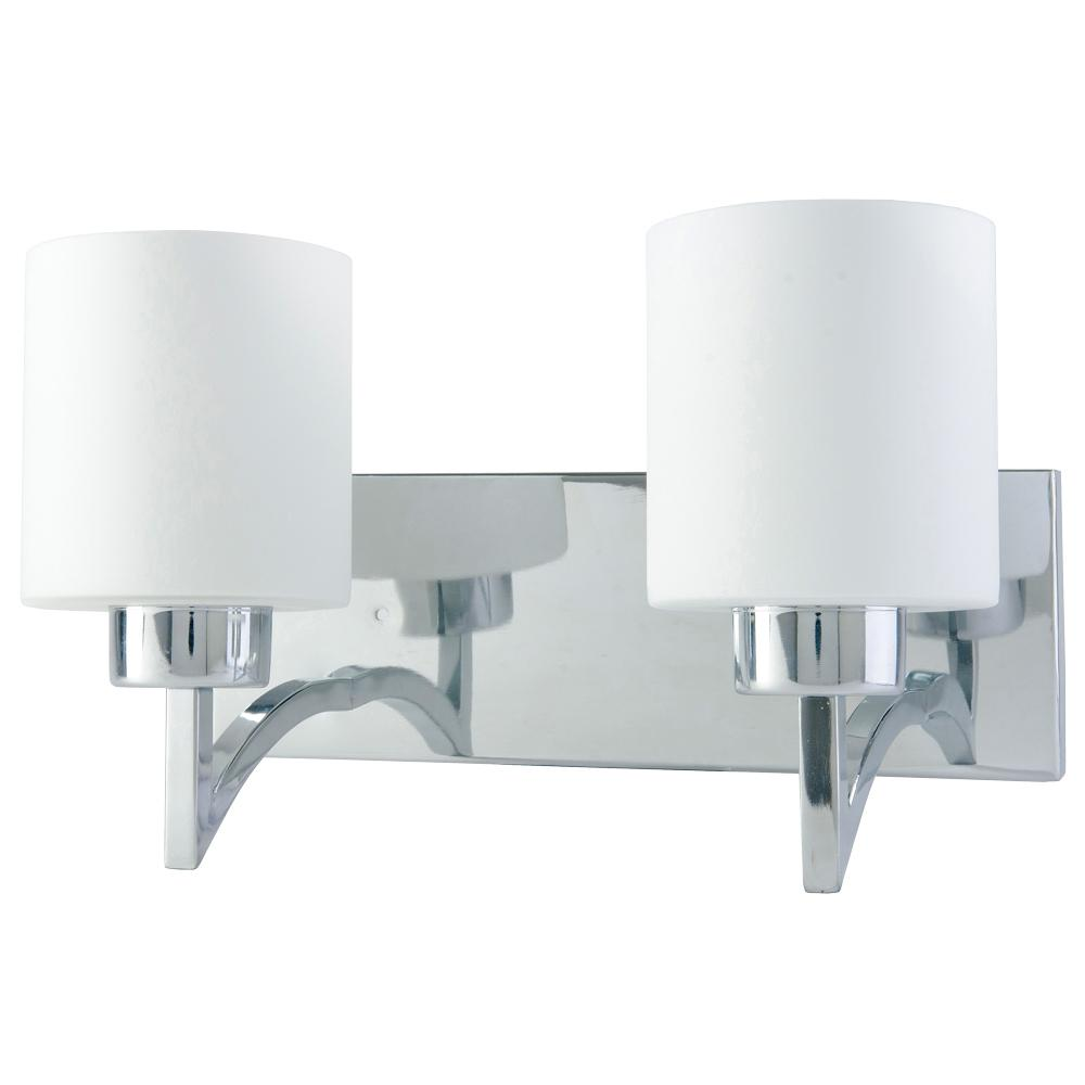 Beldi Markam Indoor Collection 2 Lights Chrome Wall Mount Sconce Light