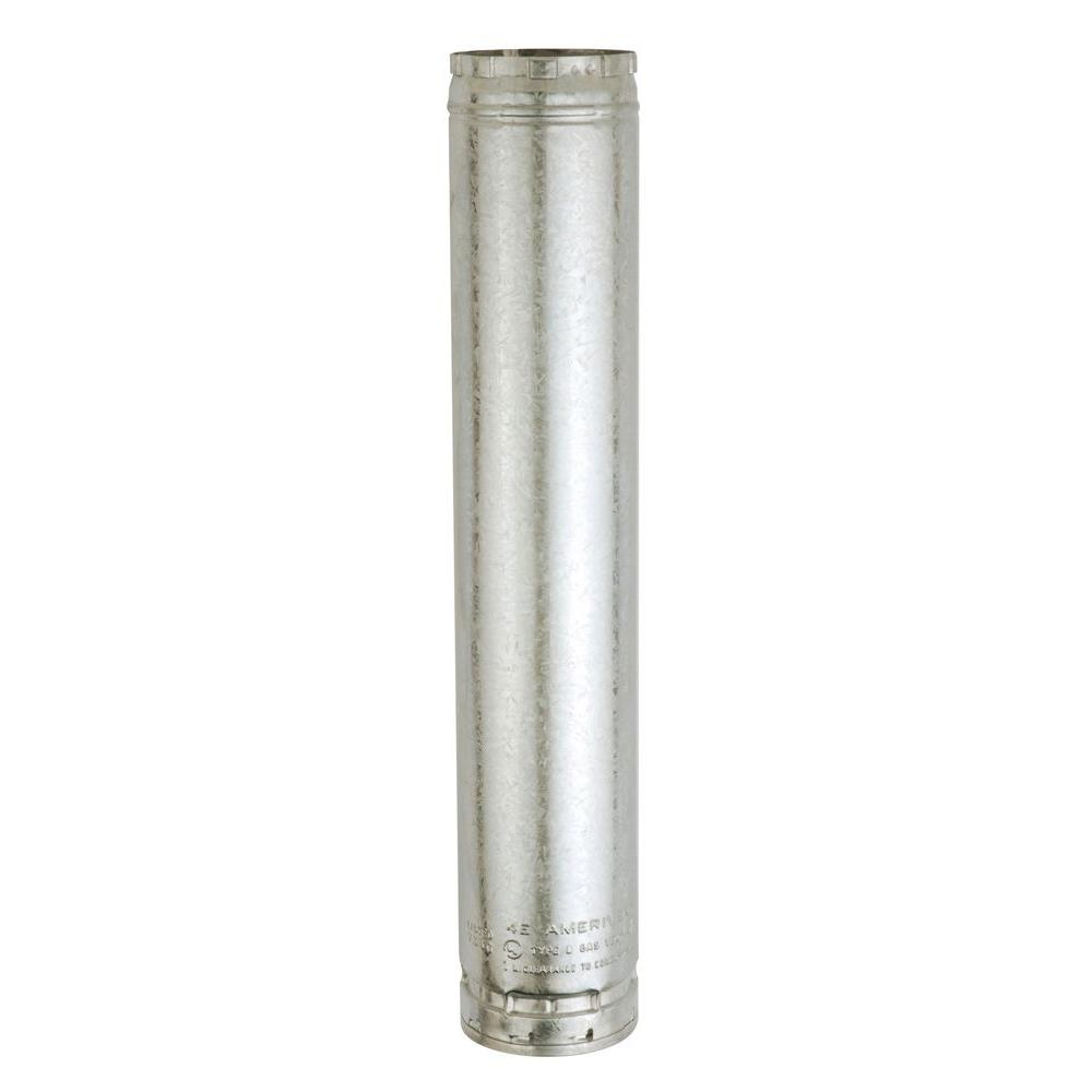 American Metal Products 4-1/2 in. W x 24 in. L Round Type B Gas Vent Pipe