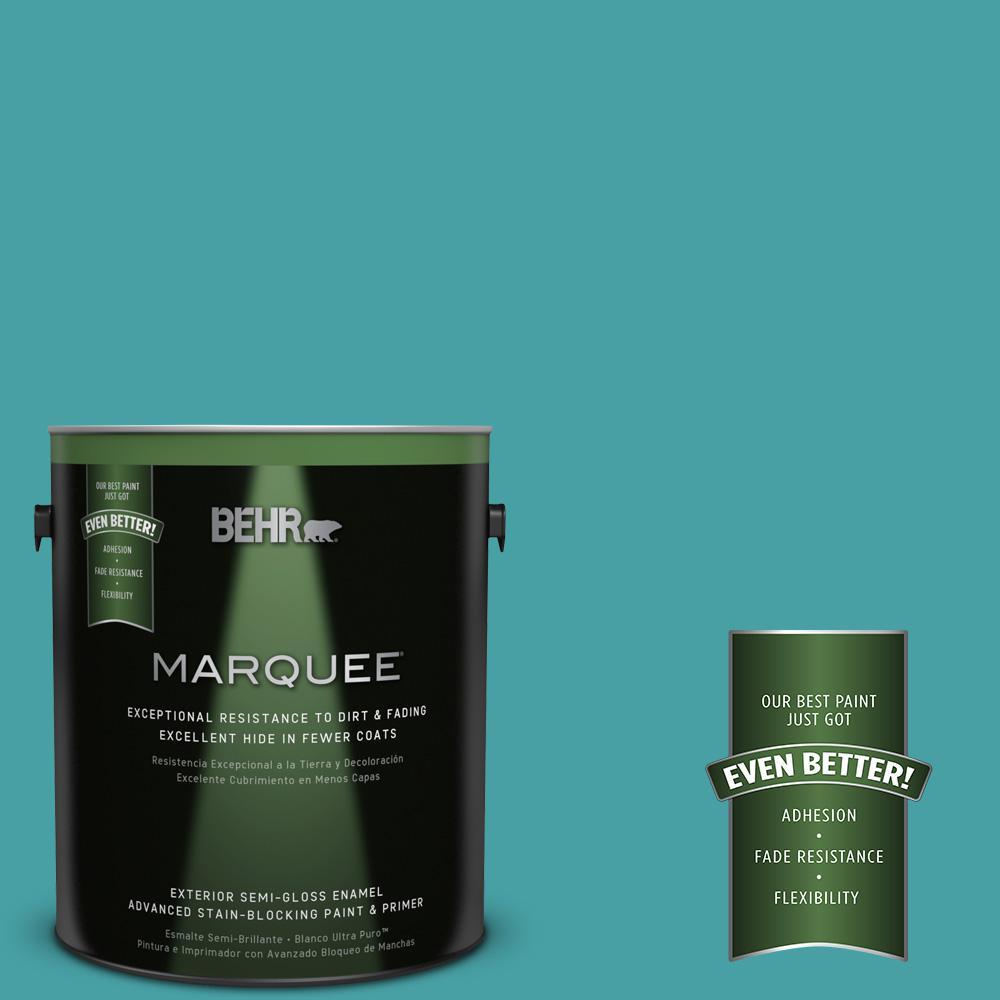 BEHR MARQUEE 1-gal. #M460-5 Aqua Fresco Semi-Gloss Enamel Exterior Paint