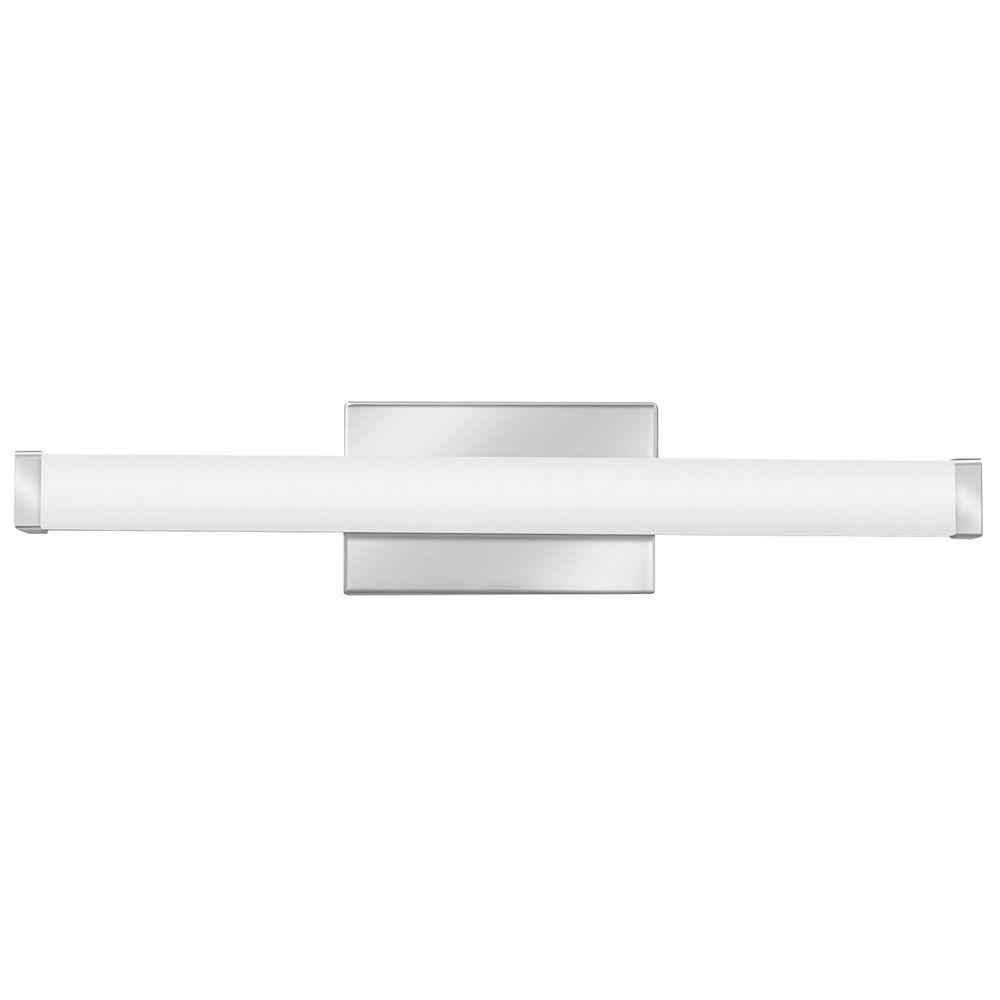 Lithonia Lighting FMVCSLS 2 ft. Chrome LED Selectable Color Temperature 3000/3500/4000K Dimmable LED Contemporary Square Vanity Light