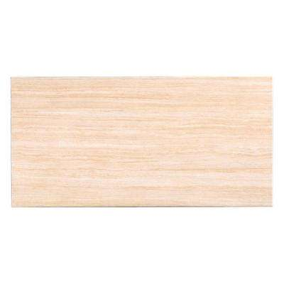 Silk Almond 12 in. x 24 in. Porcelain Floor and Wall Tile (16.68 sq. ft. / case)