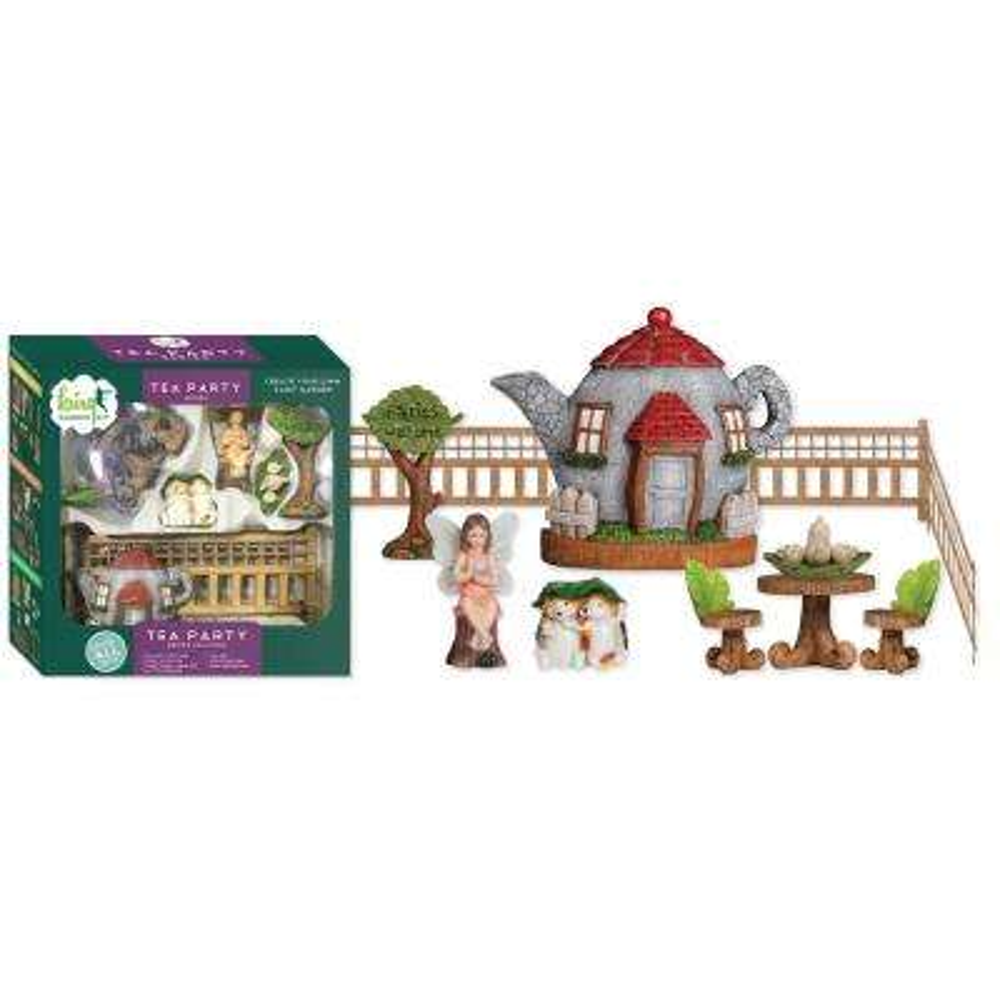 Tea Party Polyresin Fairy Garden Kit (11-Piece)