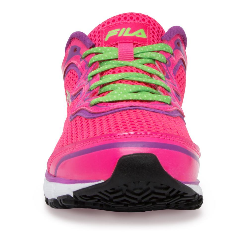 Fila Women's Memory Fresh Start Slip Resistant Athletic Shoes Soft Toe PinkPurple Cactus Flower Size 5(M)