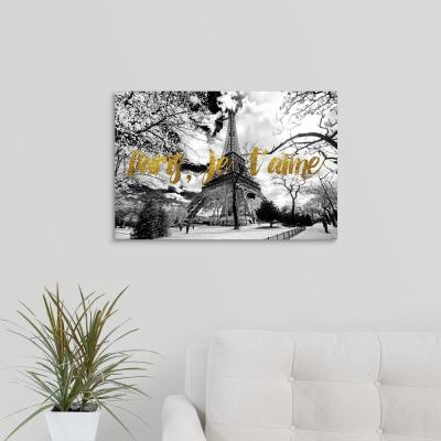 """Eiffel Tower, Paris, je t'aime"" by Philippe Hugonnard Canvas Wall Art"