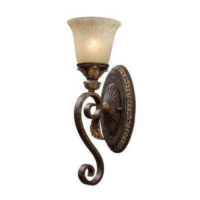 Regency 1-Light Burnt Bronze Sconce