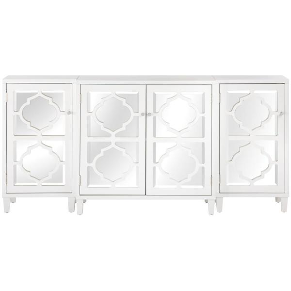 Home Decorators Collection Reflections White Mirrored Console Table Set