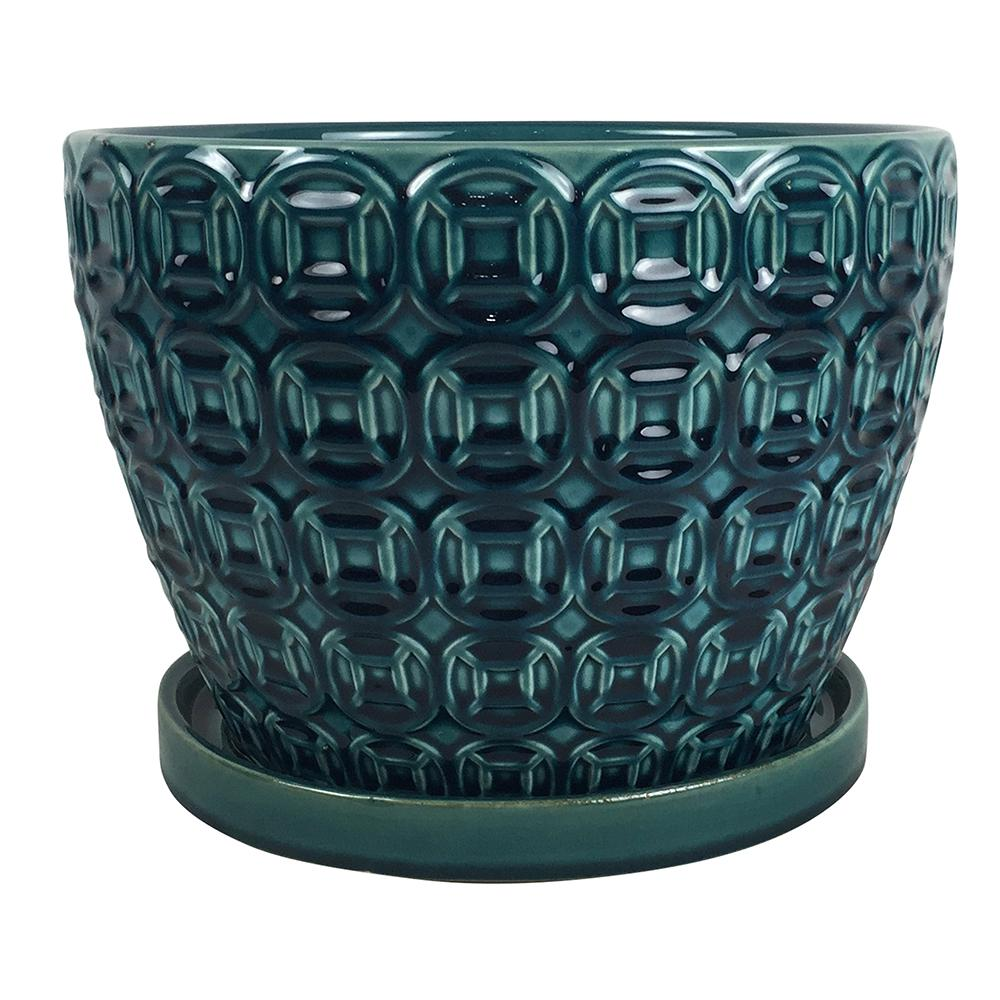 Southern Patio Mayer 12 In Dia Seafoam Ceramic Pot Crm