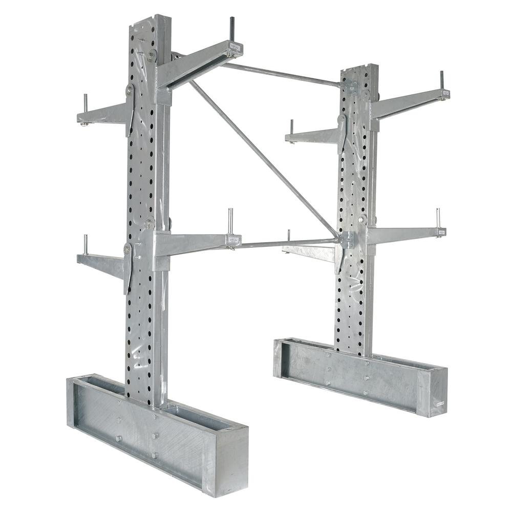 72 in. x 24 in. Galvanized Double Sided Heavy Duty Cantilever