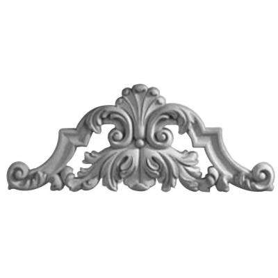 1-1/8 in. x 22-1/4 in. x 8 7/8 in. Polyurethane Savona Center with Scrolls Onlay Moulding