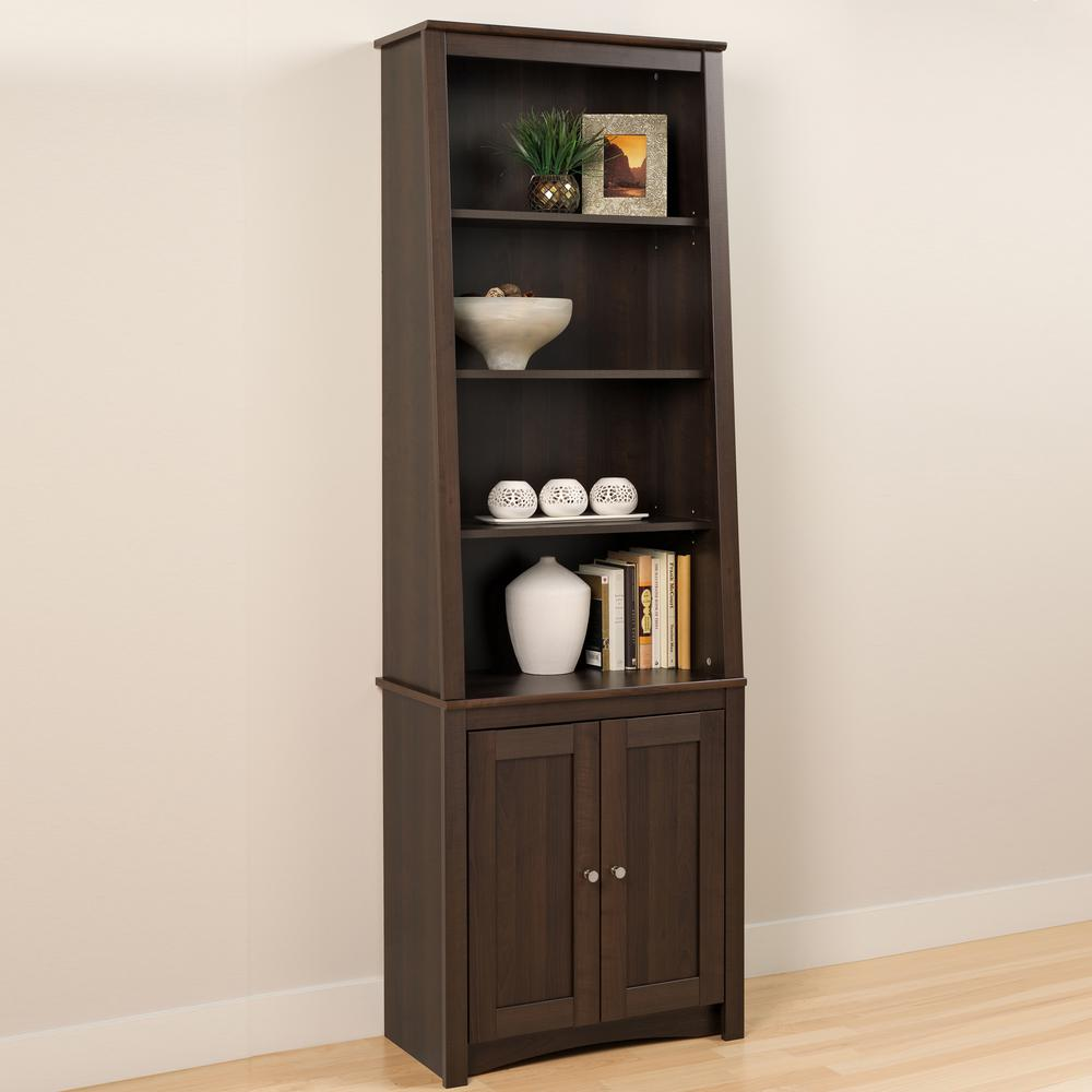 bookcase storage stand espresso odzchd organizer wood or shelves tier cabinet products white display corner wall