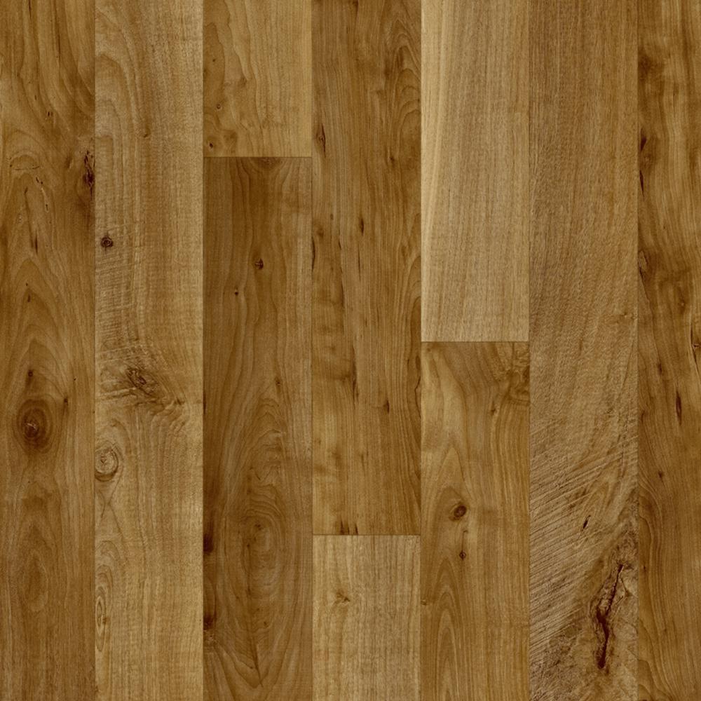 Hazelnut Oak Natural 13.2 ft. Wide x Your Choice Length Residential Vinyl Sheet Flooring