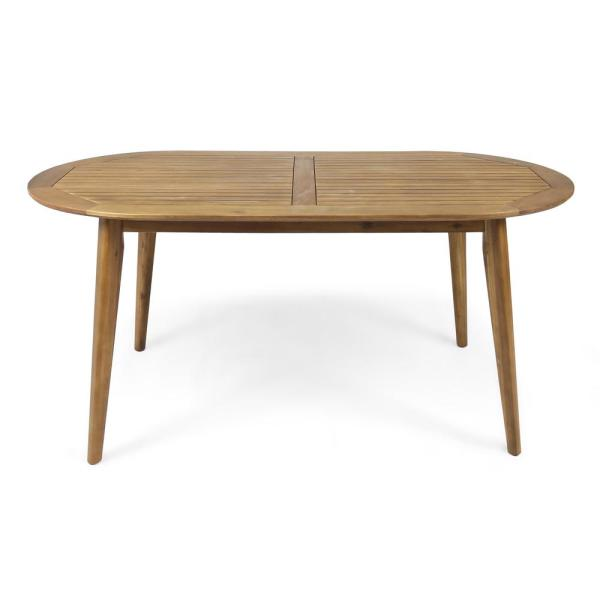 Stamford Teak Brown Oval Wood Outdoor Dining Table