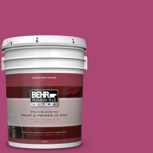#100B 7 Hot Pink Flat/Matte Interior Paint 175305   The Home Depot