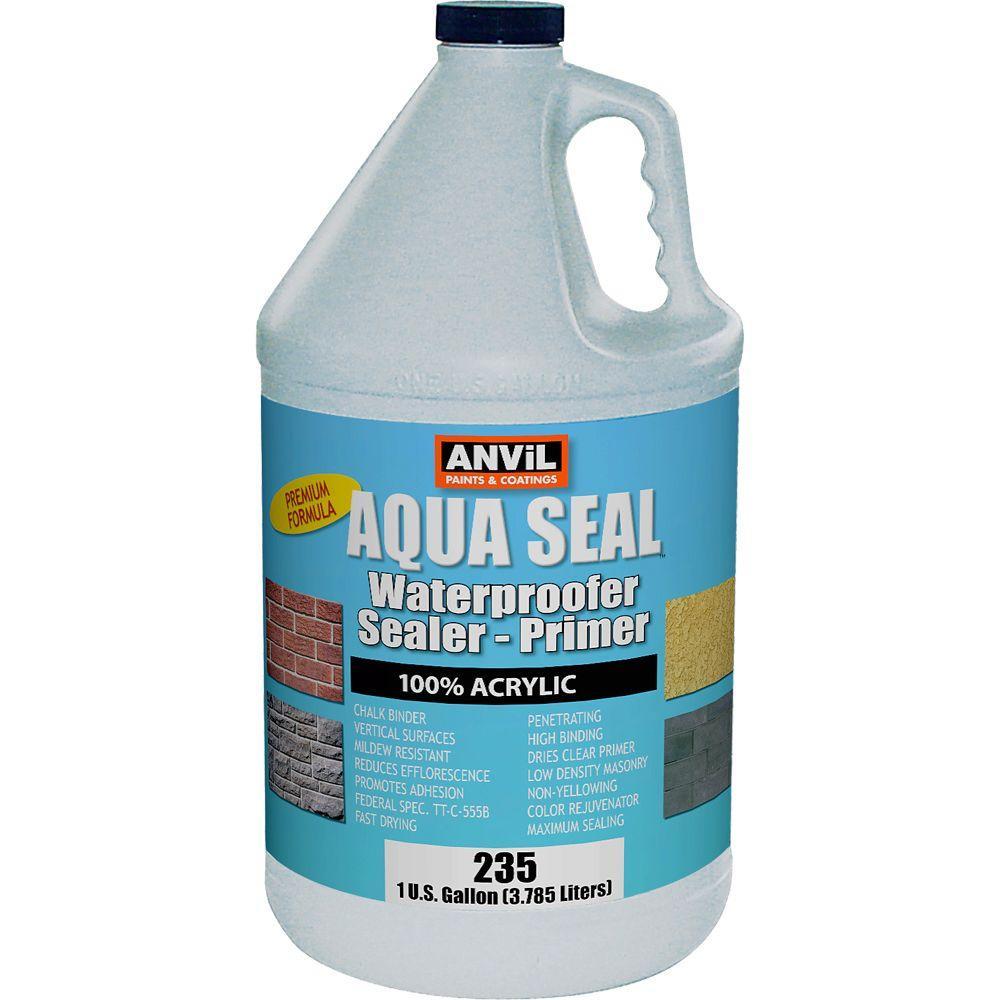 1 gal. AquaSeal Waterproofer Bonding Primer Acrylic Clear