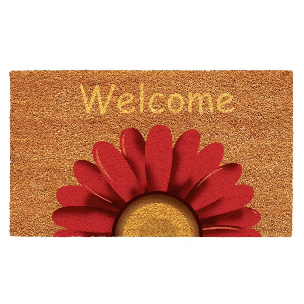 Home Amp More Sunflower Welcome Door Mat 17 In X 29 In