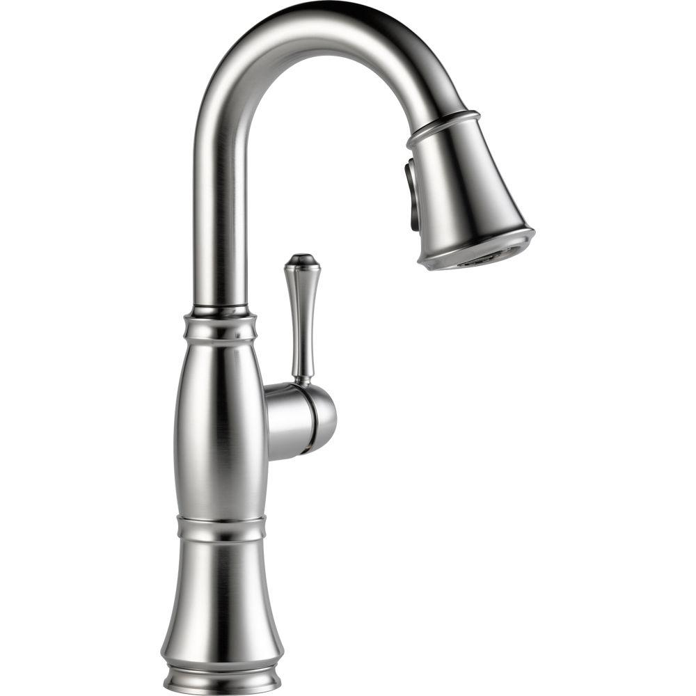 Cassidy Single-Handle Pull-Down Sprayer Bar Faucet in Arctic Stainless