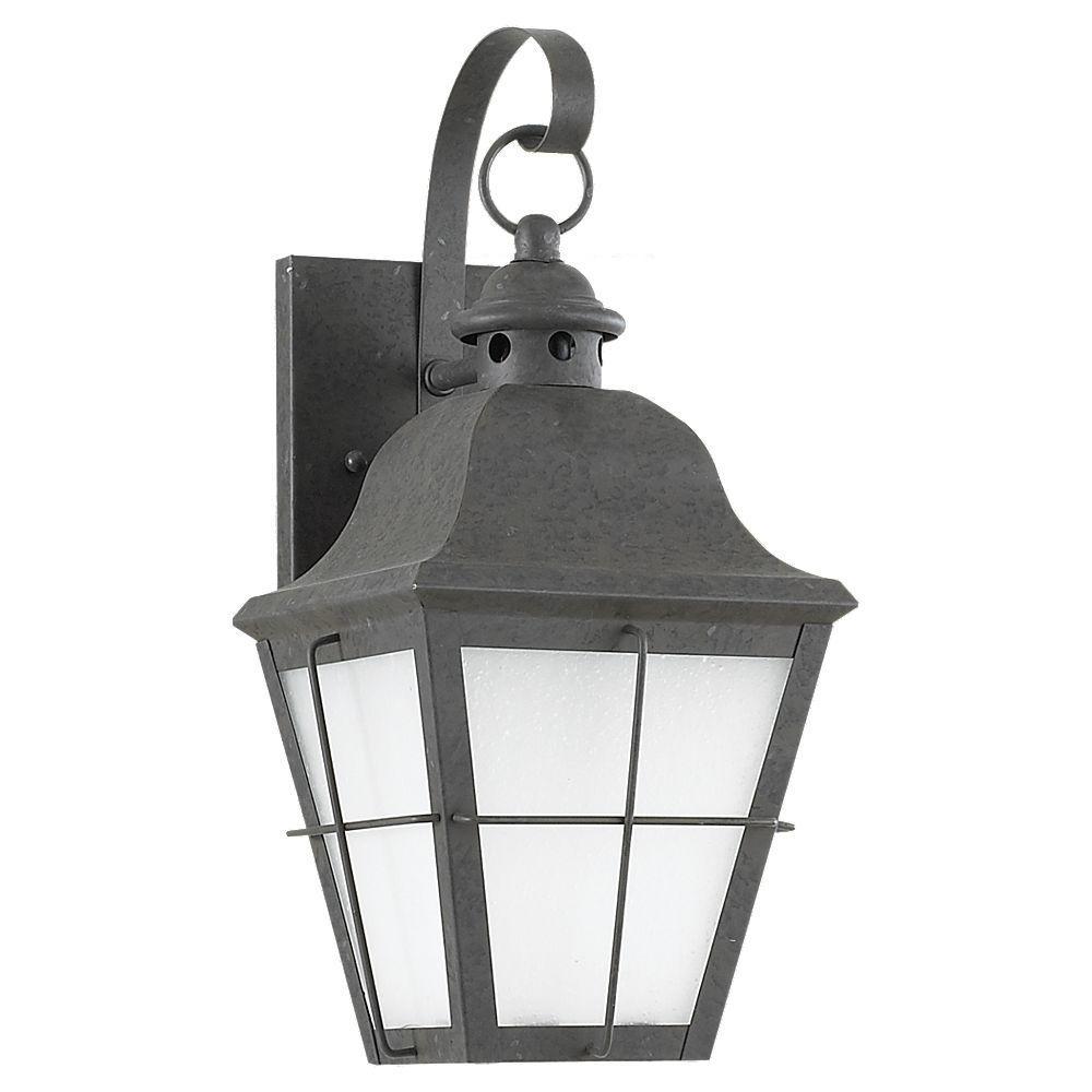 Chatham 1-Light Outdoor Oxidized Bronze LED Wall Mount Lantern